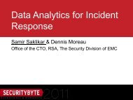 Data Analytics for Incident Response - Securitybyte