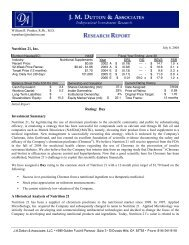 Nutrition 21, Inc. Rating: Buy Investment Summary A Historical ...