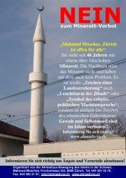 Minarett, Leuchtturm des Jihads? (Refektorium, Basel)