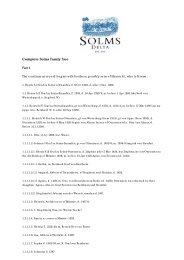 Complete Solms Family Tree - Solms-Delta