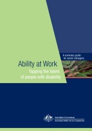 Ability at Work - Australian Public Service Commission