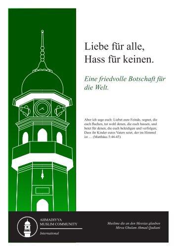 PDF: Erläuterung Bibel / Flyer - Ahmadiyya Muslim Jamaat Schweiz