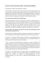 Governance, Risk und Compliance (GRC) - Datenschutz-Berater
