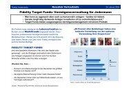 Fidelity Target Funds: Vermögensverwaltung für ... - INFOS GmbH