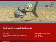 The Risk of Irrevocable Settlements
