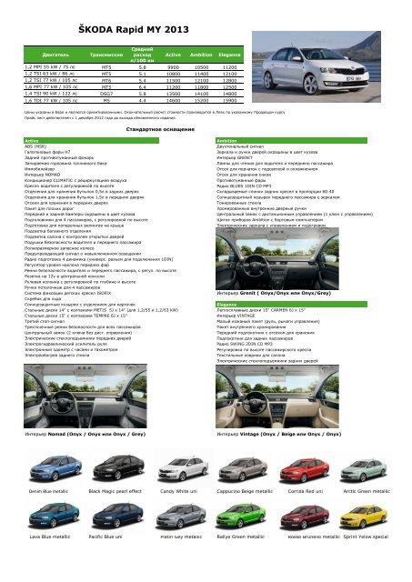 ÅKODA Rapid MY 2013 - Skoda Auto