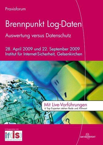 Brennpunkt Log-Daten - DATAKONTEXT