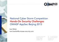 National Cyber Storm Competition Hands-On Security Challenges ...