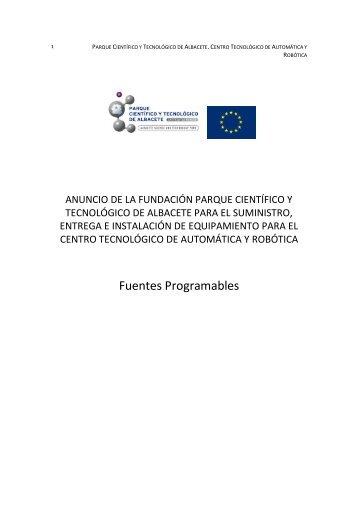 Fuentes Programables - Parque Científico y Tecnológico de Castilla ...
