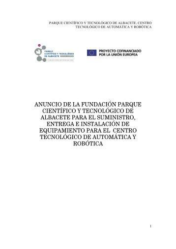 Actuadores - Parque Científico y Tecnológico de Castilla La Mancha
