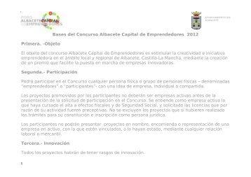 Bases del Concurso Albacete Capital de Emprendedores - Parque ...