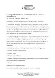 P20 Principer för utseende av valberedning - Öresund