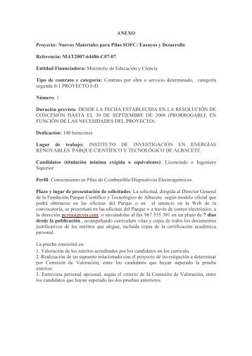 ANEXO Proyecto: Nuevos Materiales para Pilas SOFC: Ensayos y ...