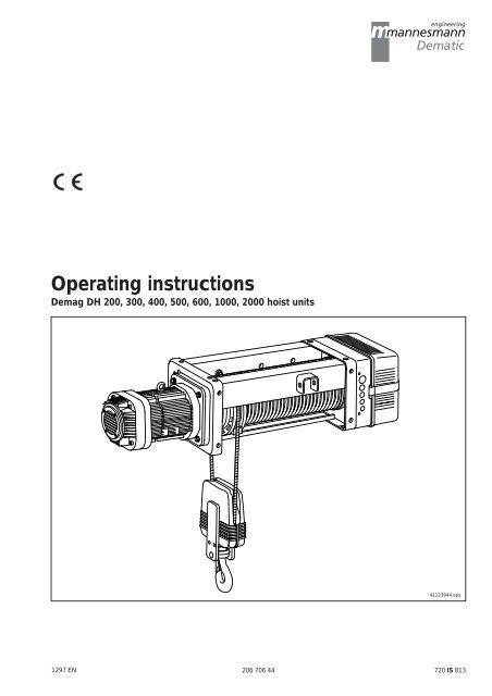 [DIAGRAM_38YU]  O M DH200.pdf | Demag Hoist Wiring Diagram |  | Yumpu