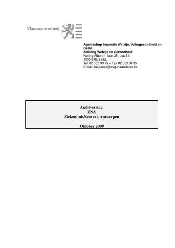 2010 01 11 definitief verslag ZNA - De Standaard