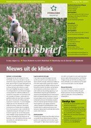 Nieuwsbrief 2013 nummer 2 - Sterkliniek Dierenartsen Hillegom