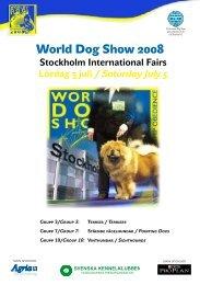 World Dog Show Utställningsinformation - Svenska Kennelklubben