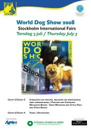 World Dog Show Exhibitors Information - Svenska Kennelklubben