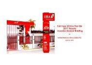 Investor Presentation - UBA Plc