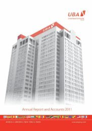 2011 Annual Report and Financial Statements - UBA Plc
