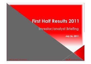 2011 Half Year Investor Presentation - UBA Plc