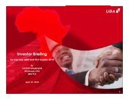 2010 First Quater and 2009 Full Year Investor Presentation - UBA Plc