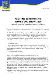 World Dog Show - Regler för bedömning