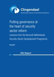 Putting governance at the heart of SSR