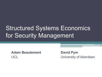 Presentation - Workshop on the Economics of Information Security ...