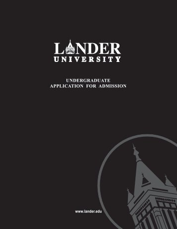 undergraduate application for admission - Lander University