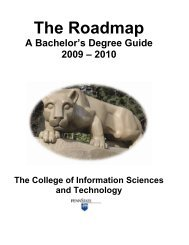 2009-2010 Baccalaureate Roadmap - College of Information ...