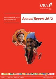 2012 Annual Report & Financial Statements - UBA Plc