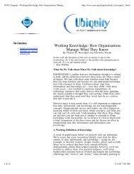 Working Knowledge: How Organizations Manage ... - kushima.org