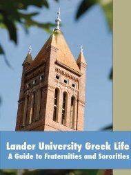 Greek Guide (PDF) - Lander University