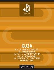 Guía del Examen General de Conocimientos - Secretaría de ...