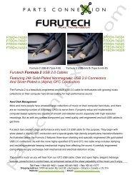 Furutech Formula 2 USB 2.0 Cables Featuring ... - Parts ConneXion