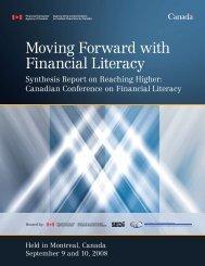 Canadian Conference on Financial Literacy - Agence de la ...