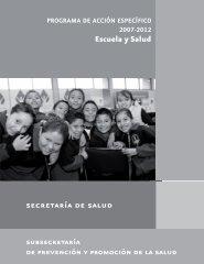 Escuela y Salud subsecretaría - Dirección General de Promoción de ...