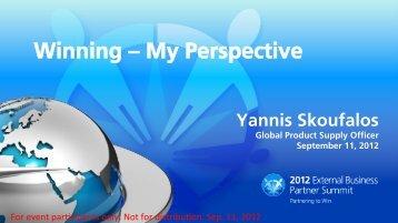 Winning – My Perspective - PGSupplier.com