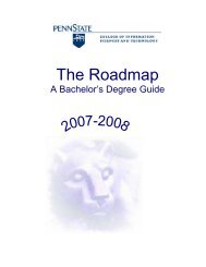 2007-2008 Baccalaureate Roadmap - College of Information ...