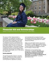 Financial Aid and Scholarships - College of Information Sciences ...