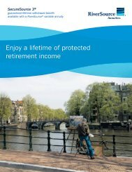Enjoy a lifetime of protected retirement income - RiverSource