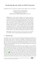 LNCS 7227 - Predicting Recent Links in FOAF Networks - CollabSeer