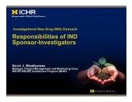 Responsibilities of IND Sponsor-Investigators - Michigan Institute for ...