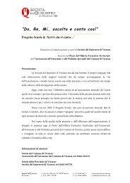 """""""Do, Re, Mi… ascolto e canto così"""" - Società del Quartetto di Vicenza"""