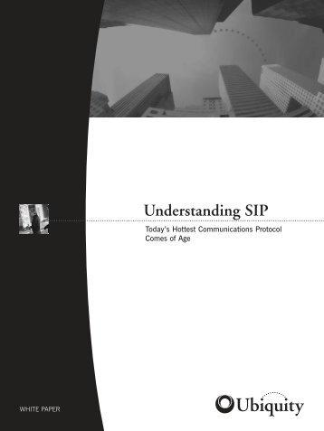 Ubiquity Software: Understanding SIP - Brisson Group