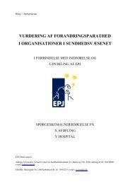 Spørgeskema - EPJ-Observatoriet