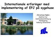 Internationale erfaringer med implementering af ... - EPJ-Observatoriet