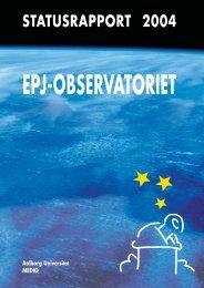 Statusrapport 2004 - EPJ-Observatoriet