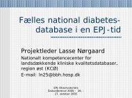 Fælles national diabetes- database i en EPJ-tid - EPJ-Observatoriet